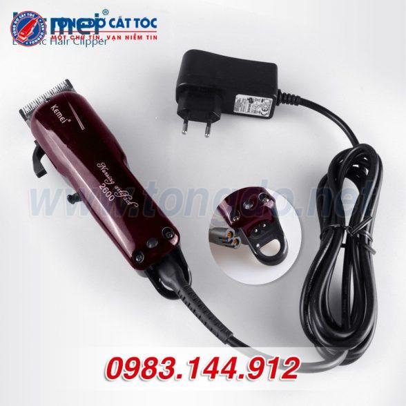Tông đơ cắt tóc kemei km 2600 tặng cữ 1,5mm và 4,5mm 14 - 21510cd328e6d5195d9270f96d7a02ee