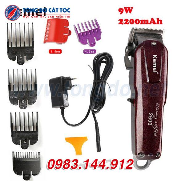 Tông đơ cắt tóc kemei km 2600 tặng cữ 1,5mm và 4,5mm 12 - 27e46d7e4bbe3c43d4fc24eb7c95503f