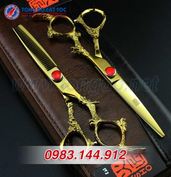 Bộ kéo cắt tóc kasho rồng vàng nhật bản (tặng kèm bao da đựng kéo cao cấp + 2 lược toniguy) 17 - z2192252242879 6402ca5d4ece2c28aec0cac5fd5895fa