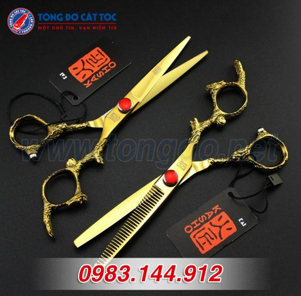 Bộ kéo cắt tóc kasho rồng vàng nhật bản (tặng kèm bao da đựng kéo cao cấp + 2 lược toniguy) 19 - z2192252366797 d404858907538ed2fdbb0612351c1e6f