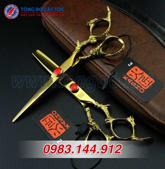 Bộ kéo cắt tóc kasho rồng vàng nhật bản (tặng kèm bao da đựng kéo cao cấp + 2 lược toniguy) 15 - z2192252406055 d00dfa3659b013478503840e5ed2514a